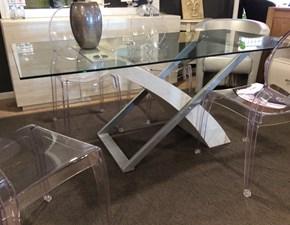 Tavolo in vetro rettangolare Unique  Artigianale a prezzo scontato