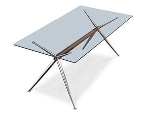 Tavolo in vetro rettangolare Vega Artigianale a prezzo scontato