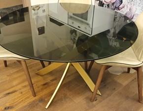 Tavolo in vetro rotondo Barone fisso 130 Bontempi casa in offerta outlet