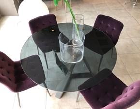 Tavolo in vetro rotondo Barone/kuga Bontempi casa a prezzo scontato