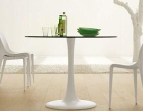 Tavolo in vetro rotondo Hugo bistrot Cattelan a prezzo ribassato
