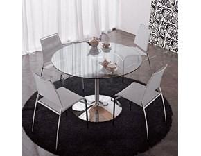 Tavolo in vetro rotondo Indo  Artigianale in Offerta Outlet