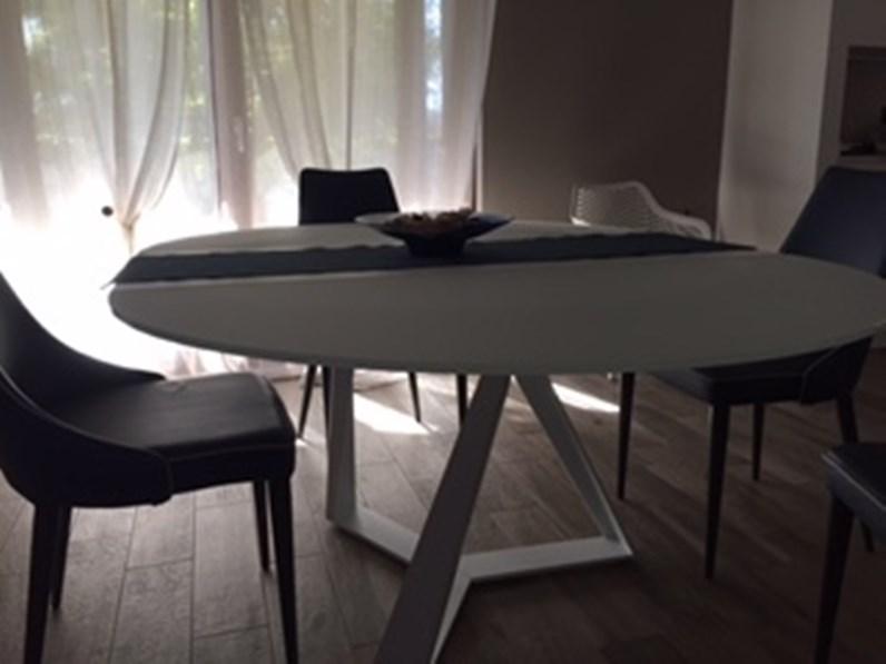Tavolo in vetro rotondo Millenium tondo allungabile Bontempi casa in  Offerta Outlet