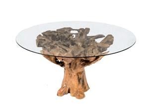 Tavolo in vetro rotondo Radice Artigianale a prezzo ribassato