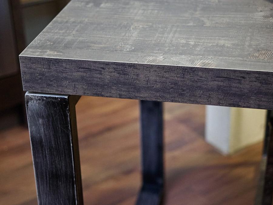 tavolo industrial ferro e cemento scuro smile in offerta ...