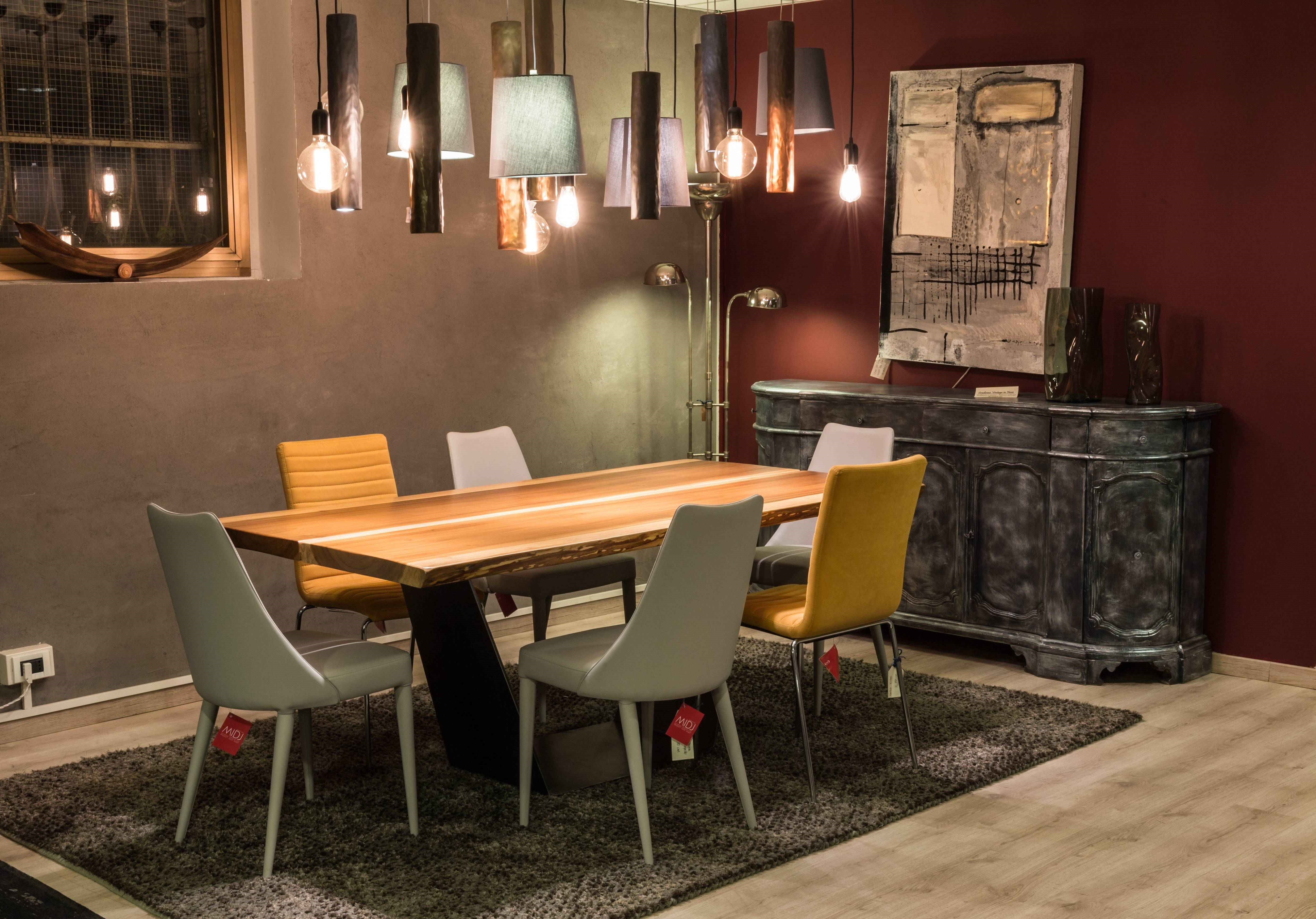 Tavolo industrial in legno massello di betulla scontato del 40 tavoli a prezzi scontati - Centro veneto del mobile cernusco ...