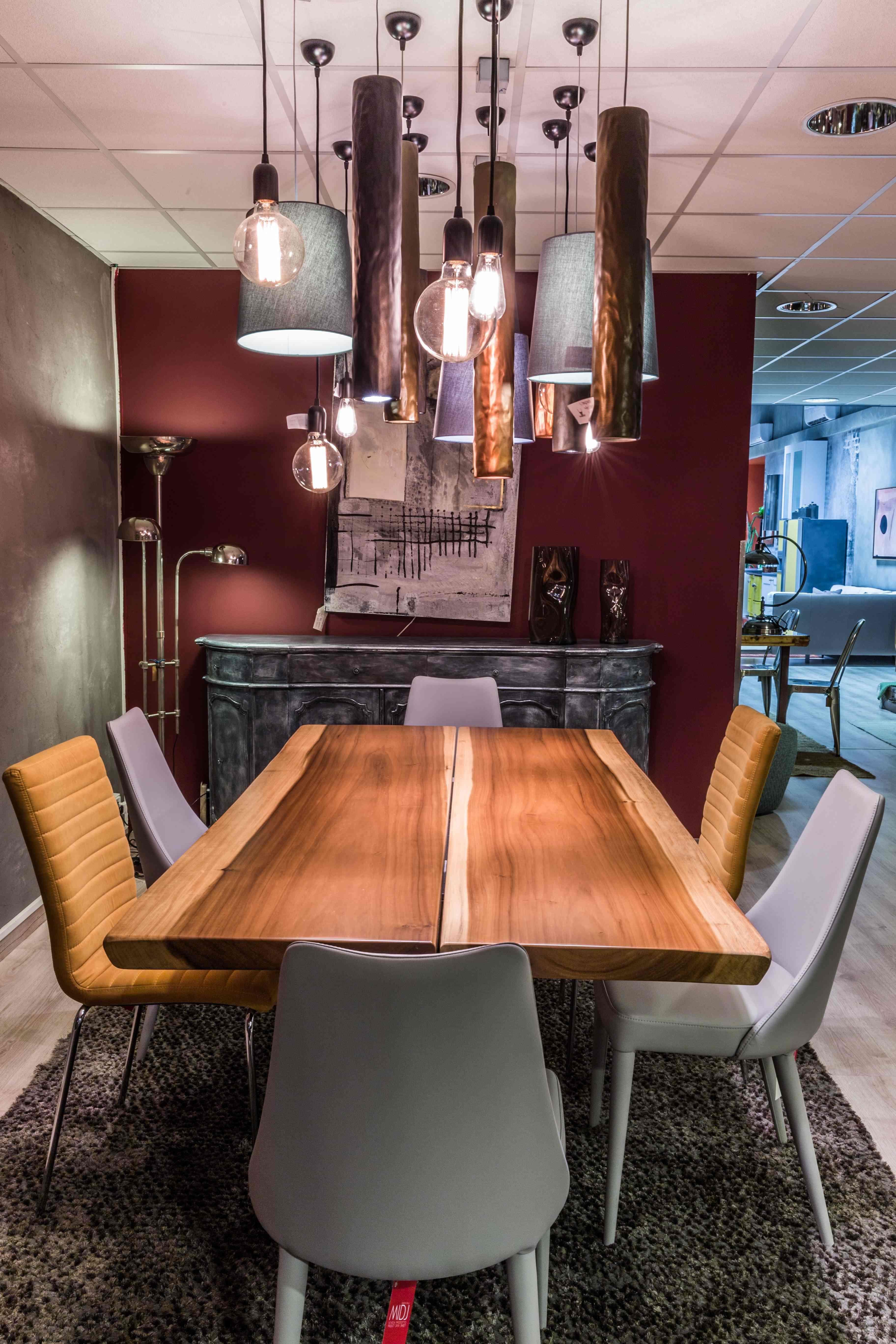 Tavolo industrial in legno massello di betulla scontato - Tavolo in legno massello ...