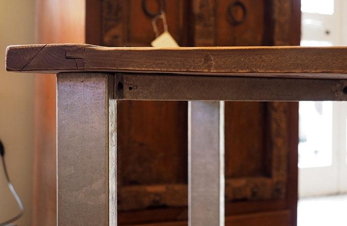 Tavolo industrial in offerta legno grezzo di noce india tavoli a prezzi scontati - Tavoli in legno grezzo ...