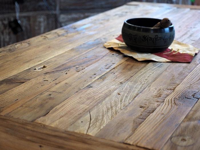tavolo industrial in offerta legno grezzo di noce india - tavoli a ... - Tavolo Legno Massello Allungabile Usato