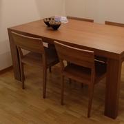 Tavolo Jesse Tranoi alungabile  + 4 sedie margot Rettangolari rettangolari allungabili Legno noce canaletto