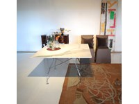 Tavolo kartell quadrato glossy in marmo scontato 25%
