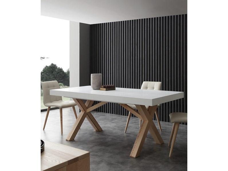 Tavolo la seggiola leonardo rettangolari allungabili for Tavoli rettangolari allungabili in legno