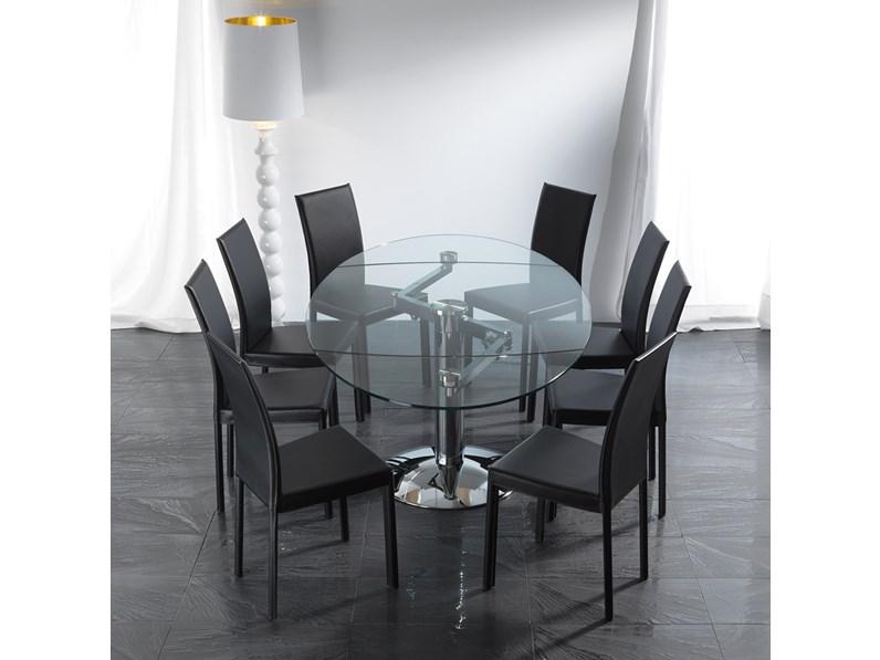Tavolo la seggiola modello ellisse tavoli a prezzi scontati for Arredamenti villa outlet