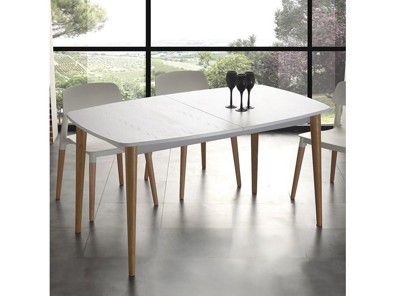 Tavolo la seggiola olaf rettangolari allungabili legno for Tavoli allungabili outlet