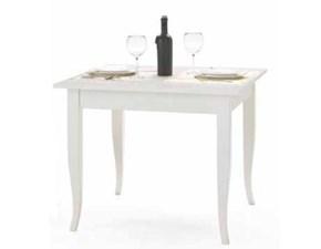 Tavolo laccato bianco fisso in OFFERTA OUTLET