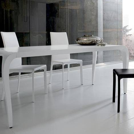 Tavolo laccato bianco o nero lucido tavoli a prezzi scontati - Tavolo bianco lucido ...