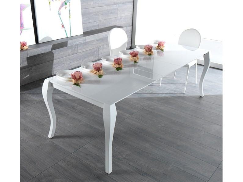 Tavolo laccato doppia allunga fine produzione - Produzione tavoli allungabili ...