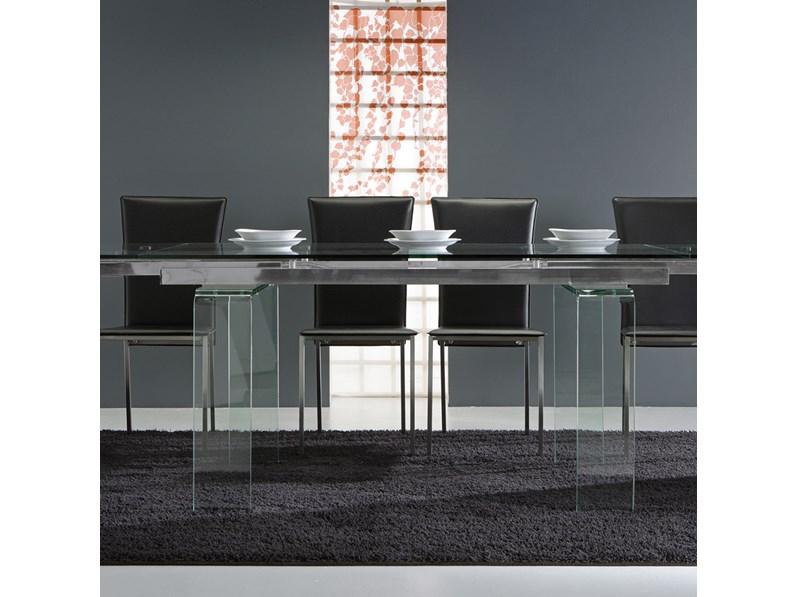 Tavolo laseggiola modello glass for Arredo inox crotone