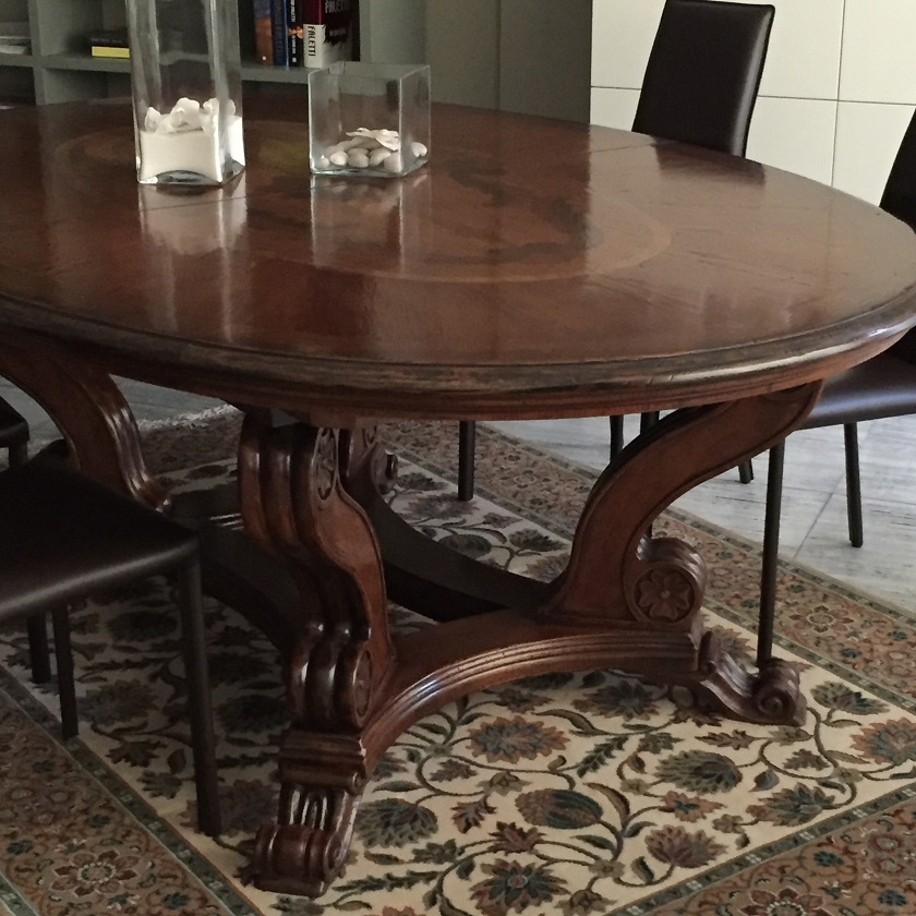 Tavolo tavolo ovale ovali ovali allungabili legno tavoli for Tavoli allungabili prezzi