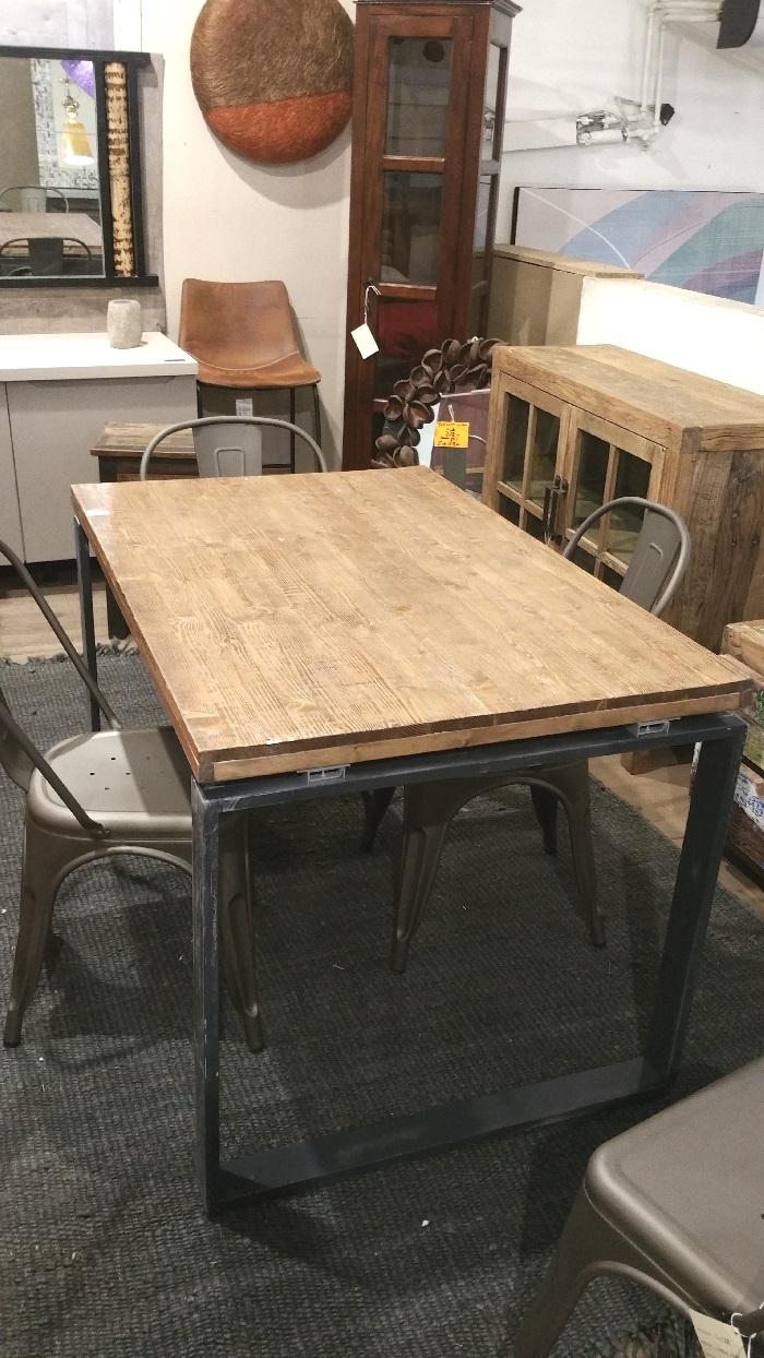 Tavolo legno recicle vintage modello lux industrial da 120 - Tavoli vintage legno ...