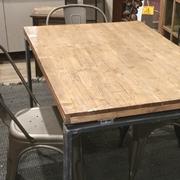 tavolo legno e ferro recicle vintage modello lux in offerta nuovimondi in stile industriale  legno e ferro