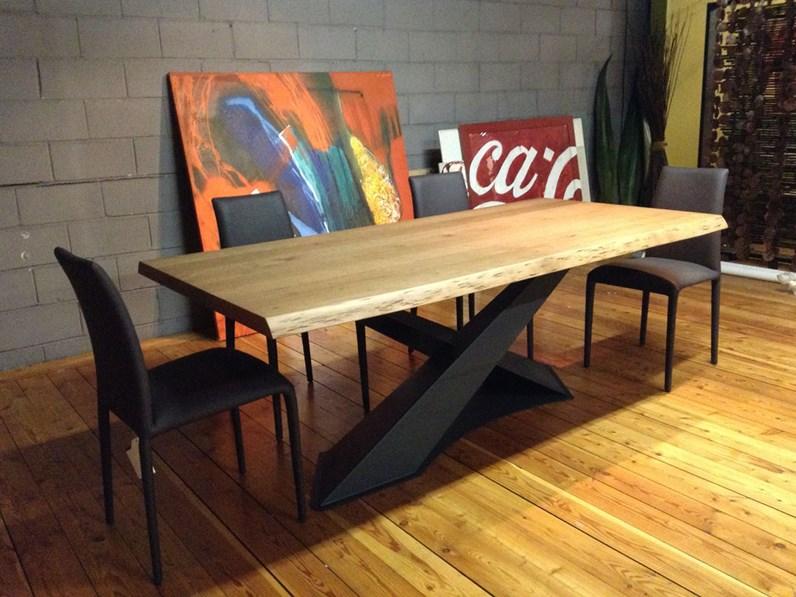 Tavolo living in legno rovere di riflessi scontato del 30 for Riflessi tavoli allungabili