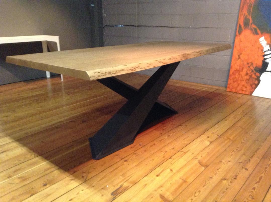 tavolo living in legno rovere di riflessi scontato del 30
