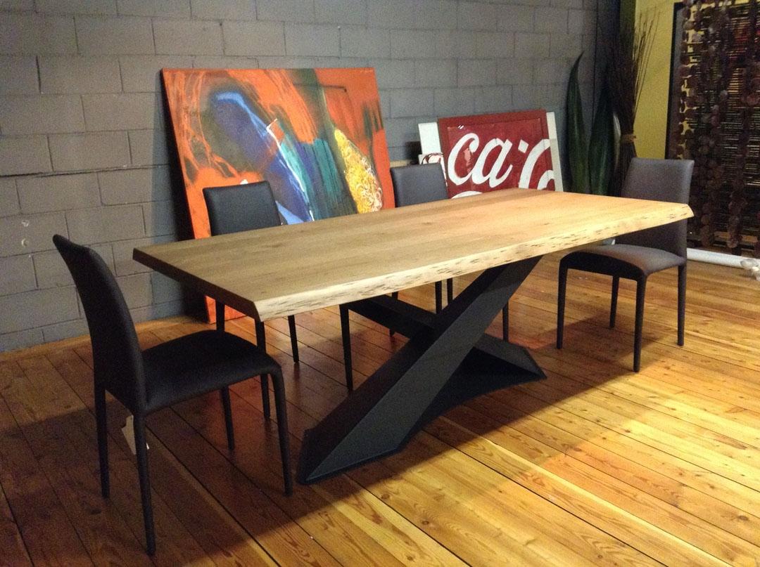 Tavolo living in legno rovere di riflessi scontato del 30 for Riflessi tavoli e sedie