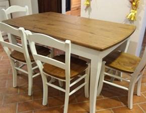 Tavolo Mass allungabile con 4 sedie Artigianale a prezzo scontato 50%