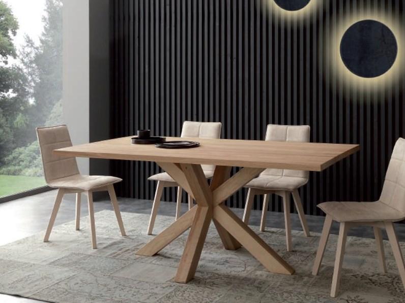 Tavolo massello gambe incrociate - Tavoli in legno moderni ...