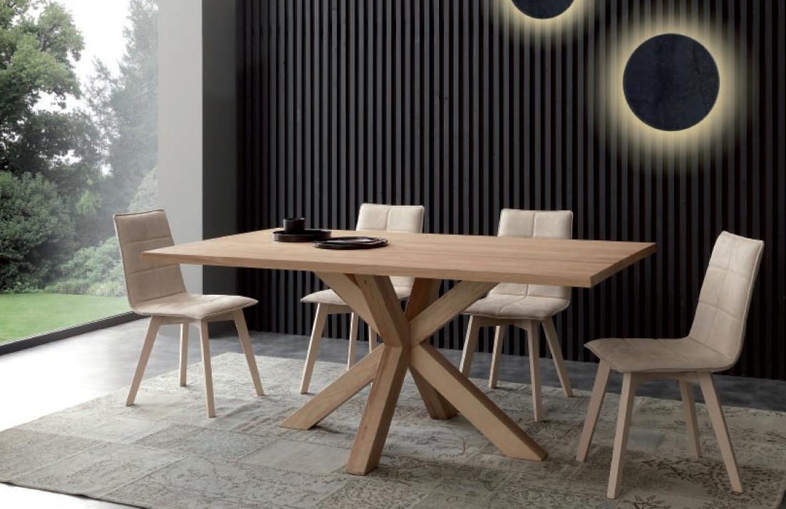 Tavolo massello gambe incrociate tavoli a prezzi scontati for Tavolo legno frassino