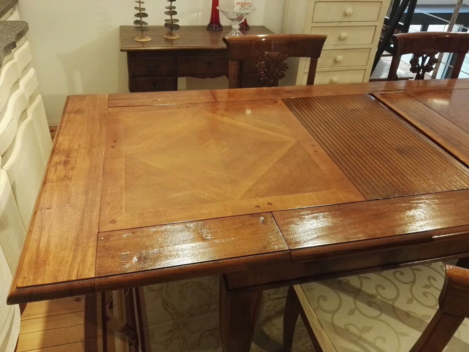 Tavolo masson matiee lungarno rettangolari allungabili for Tavoli rettangolari allungabili in legno