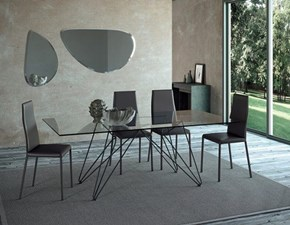 TAVOLO Md workTavolo pranzo fisso missisipi 51 vetro luxury made in italy SCONTATO a PREZZI OUTLET