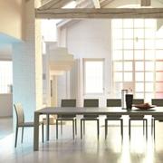 Tavolo MIDJ modello Ghedi. Tavolo allungabile con piano e allunga in melaminico e struttura disponibile in varie finiture.