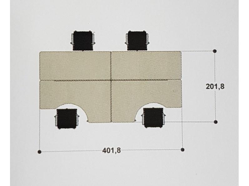 Ufficio Mobile Legno : Tavolo mobile ufficio operativo tekno zg mobili in legno fisso