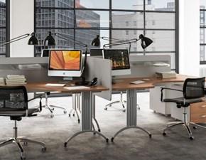Tavolo Mobile ufficio operativo tekno 04 Zg mobili in legno Fisso