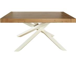 Tavolo Mobilike ml6161 Artigianale in legno Allungabile