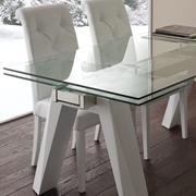 Tavolo Caronte Blanco gambe in metallo verniciato bianco