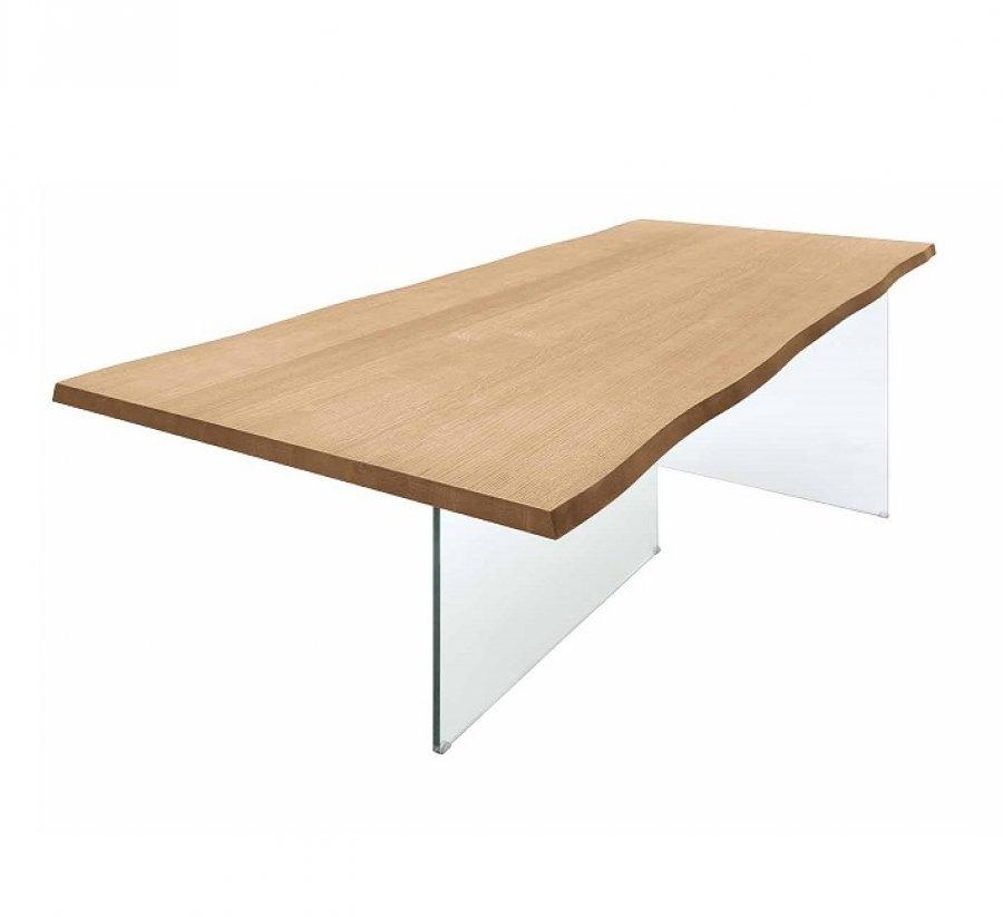 Tavolo modello rovere 131 con gambe in vetro tavoli a for Tavolo vetro satinato