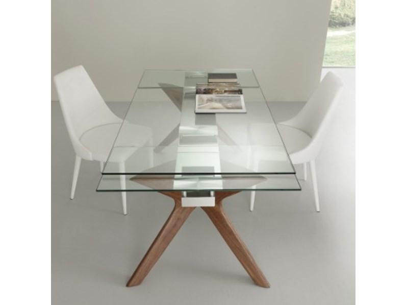 Tavolo moderno allungabile in vetro di la seggiola a - Tavolo di vetro allungabile ...