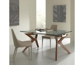 Tavolo moderno allungabile in vetro di La Seggiola a prezzo ribassato