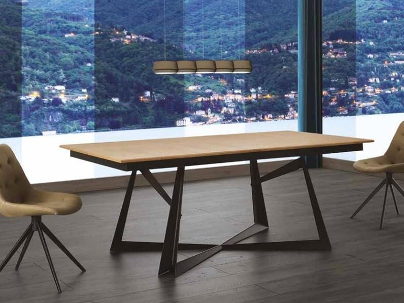 Tavolo modulare allungabile in larghezza e lunghezza massello - Larghezza tavolo ...