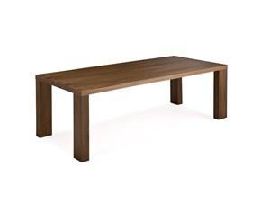 Tavolo Bella di Natisa fisso 90x160 in impiallacciato noce