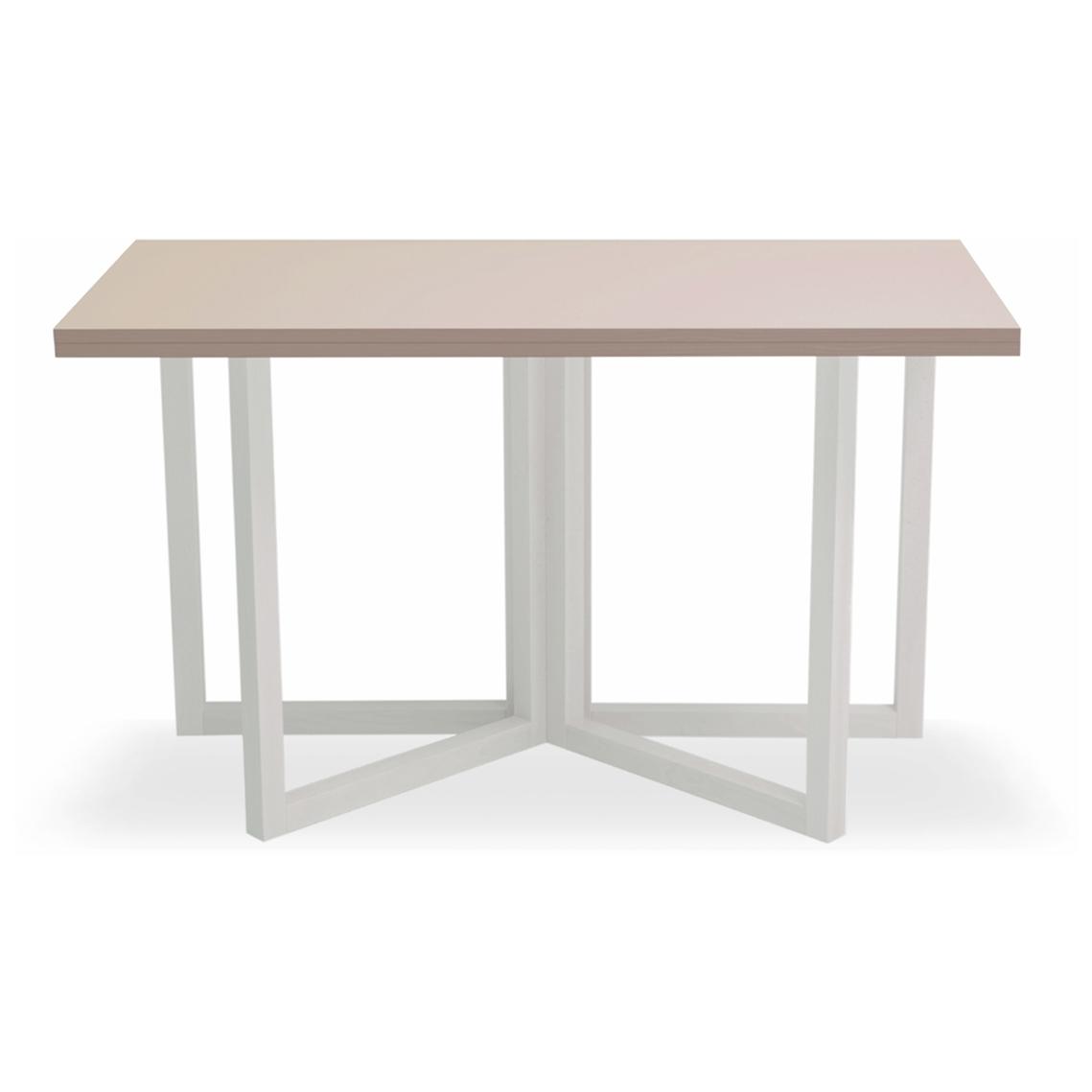 Tavolo natisa book 120x60 60 bianco di design tavoli a for Tavolo 70 x 120