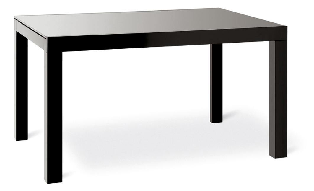Tavolo natisa noa 85x130 90 in legno weng o nero e vetro - Tavolo in vetro nero ...