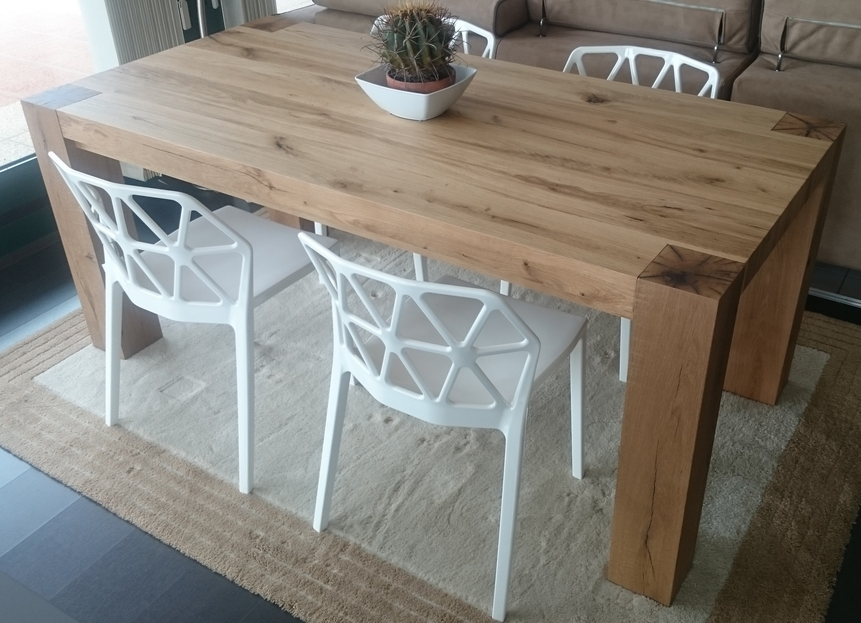 Tavolo natura in rovere vecchio massello tavoli a prezzi for Tavolo allungabile rovere