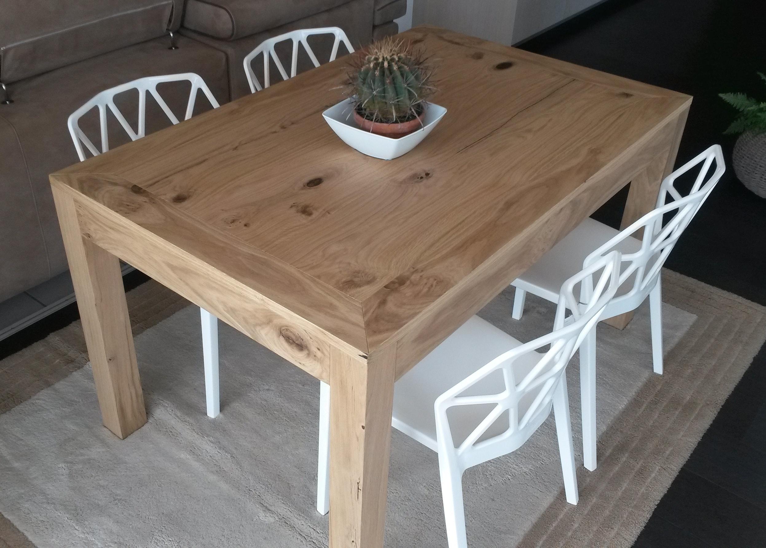 Tavolo node in rovere massello allungabile tavoli a - Tavolo massello ...