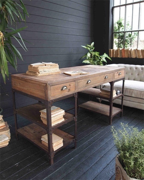 Tavolo nuovi mondi cucine scrivania vintage tavoli a - Tavoli vintage legno ...