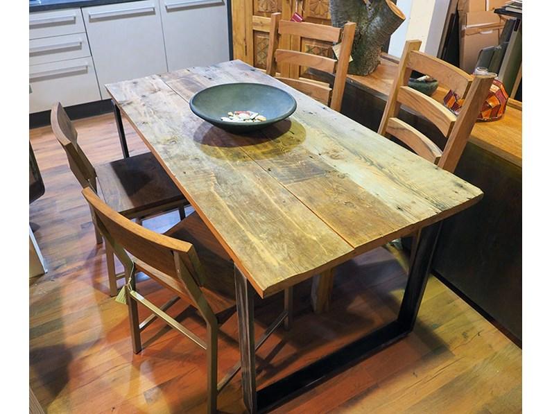 Tavolo nuovi mondi cucine tavolo allungabile industrial for Outlet tavoli moderni allungabili