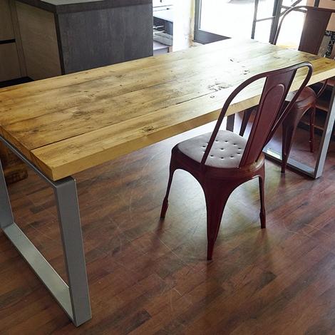 Tavolo nuovi mondi cucine tavolo industrial allungabile for Offerta tavolo allungabile